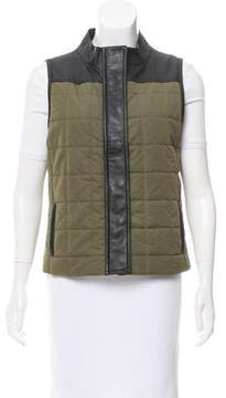 Barneys New York Barney's New York Leather-Trimmed Quilted Vest