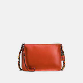 COACH Coach Soho Crossbody With Link Detail - BLACK COPPER/VERMILLION - STYLE