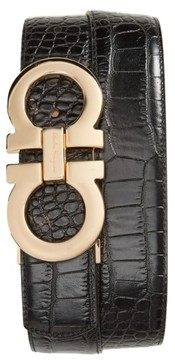 Salvatore Ferragamo Men's Gancini Leather Belt