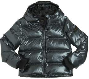 Finger In The Nose Metallic Printed Nylon Down Jacket