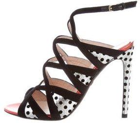 Giambattista Valli Snakeskin-Accented Multistrap Sandals