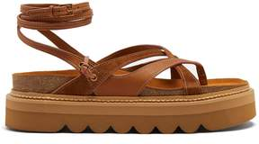 See by Chloe Wrap-around leather flatform sandals
