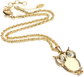 Amrita Singh Ivory & Goldtone Owl Pendant Necklace