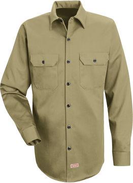 JCPenney Red Kap Deluxe Heavyweight Cotton Shirt-Big & Tall