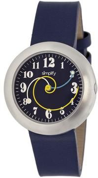 Simplify The 2700 Collection SIM2706 Unisex Stainless Steel Watch with Leather Strap