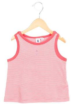Petit Bateau Girls' Striped Embroidered Top