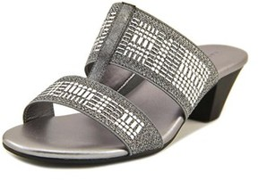 Karen Scott Zana Women Open-toe Synthetic Silver Mules.