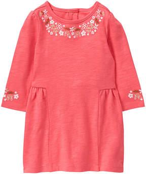 Gymboree Coral Flower-Border Dress & Diaper Cover - Newborn & Infant