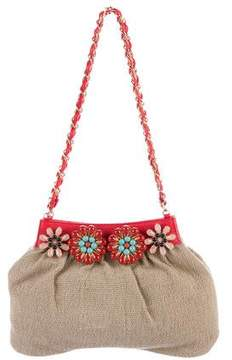 Ungaro Embellished Canvas Shoulder Bag