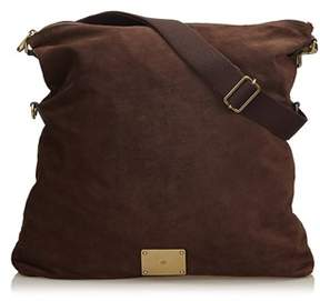 Mulberry Pre-owned: Folded Suede Crossbody Bag.