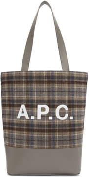 A.P.C. Grey Check Axelle Tote