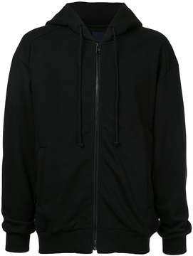 Juun.J back print zipped hoodie