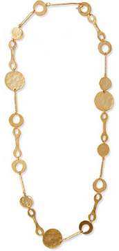 Kenneth Jay Lane Hammered Gold-Tone Necklace