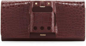 Perrin Paris Le Cabriolet Alligator & Calfskin Clutch
