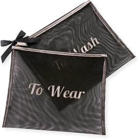 Neiman Marcus Mesh Laundry Bags, Set of 2