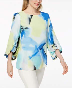Alfani Pleated Bubble-Sleeve Top, Created for Macy's