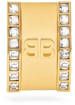 Balenciaga Logo Licence crystal single earring