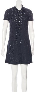 Cacharel Short Sleeve Eyelet Dress
