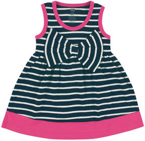 Hudson Baby Navy Stripe Big-Bow Scoop Neck Dress - Newborn