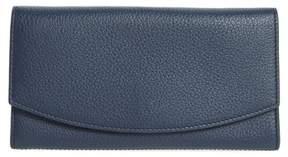 Skagen Women's Leather Continental Flap Wallet - Blue
