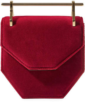 M2Malletier Amor Fati Mini Suede Satchel Bag
