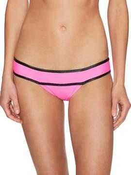 Pilyq Women's Piped Teeny Bikini Bottom