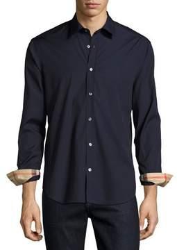 Burberry Cambridge Check-Detail Sport Shirt, Navy