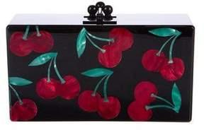Edie Parker Obsidian Cherries Clutch