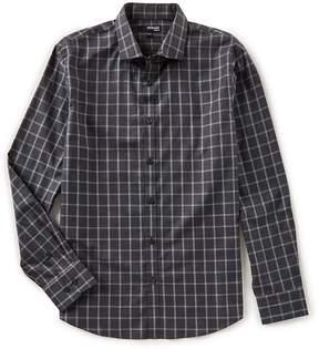 Murano Slim Long Sleeve Spread Collar Check Woven Shirt