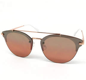 Fantas-Eyes Fantas Eyes Layered Look Half Frame Cat Eye UV Protection Sunglasses-Womens