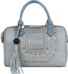 Nicole Lee Anouska Braided Intricate Cutout Design Boston Bag (Women's)