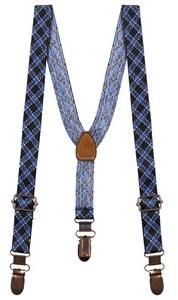 Scotch Shrunk Black and Navy Patterned Braces