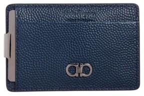Salvatore Ferragamo Men's Chicco Money Clip Card Case - Blue