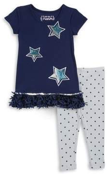 Flapdoodles Girl's Sequined Tunic and Leggings Set