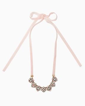 Charming charlie Luz Velvet Ribbon Necklace