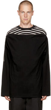 Juun.J Black Zip Layered Sweatshirt