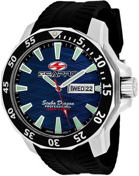 Seapro Sea-Pro Scuba Diver Limited Edition Mens Black Strap Watch-Sp8316