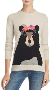 Aqua Cashmere Bear Flower Crown Intarsia Sweater - 100% Exclusive