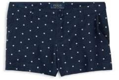 Ralph Lauren Little Girl's Star Cotton Seersucker Shorts