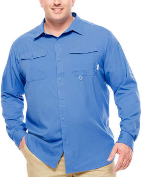 Columbia Co. Long Sleeve Button-Front Shirt-Big and Tall