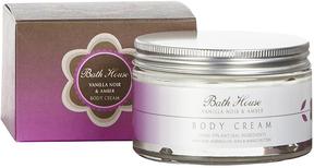 Vanilla Noir + Amber Body Cream by Bath House (200ml Cream)