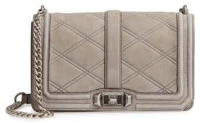 Rebecca Minkoff Love Nubuck Crossbody Bag - Grey