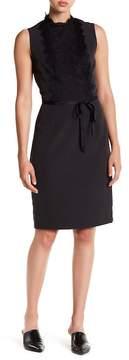 Alexia Admor Lace Mock Neck Waist \n Tie Dress