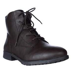Style&Co. Sc35 Qwinn Lace-up Ankle Boots, Brown.