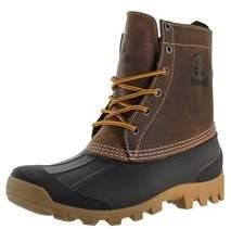 Kamik Yukon 6 Men Round Toe Leather Brown Hunting Boot.