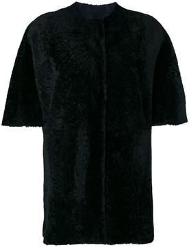 Drome furry detail reversible coat