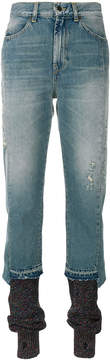 Circus Hotel layered bottom skinny jeans
