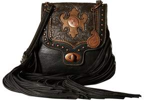American West Winslow Fringe Flap Crossbody Cross Body Handbags