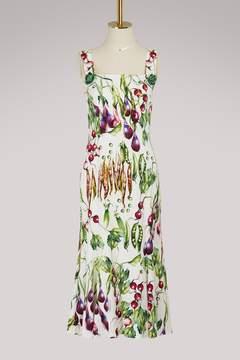 Dolce & Gabbana Mix Vegetables maxi dress