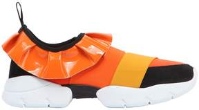 Emilio Pucci Fabric & Leather Slip-On Sneakers